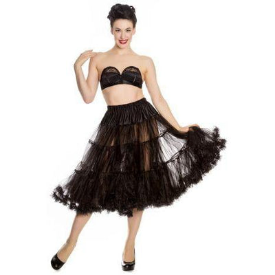 Hell Bunny Long Petticoat-Black-Vendemia