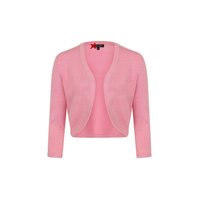 Hell Bunny Maggie Bolero-Candy Pink-Vendemia