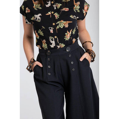 Hell Bunny Murphy Culottes-Vendemia