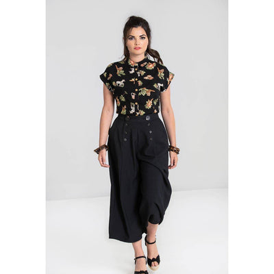 Hell Bunny Murphy Culottes-Black-Vendemia