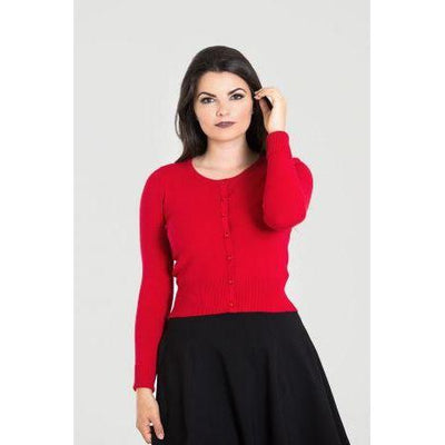 Hell Bunny Paloma Cardigan-Red-Vendemia