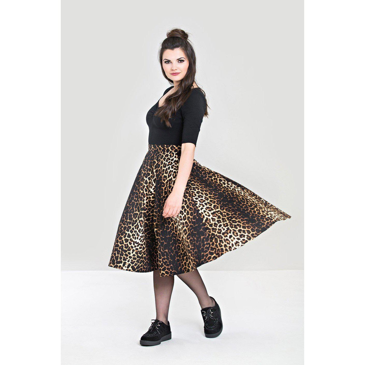 Hell Bunny Panthera 50's Skirt-Vendemia