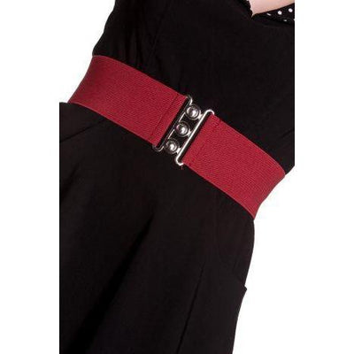 Hell Bunny Retro Belt-Burgundy-Vendemia