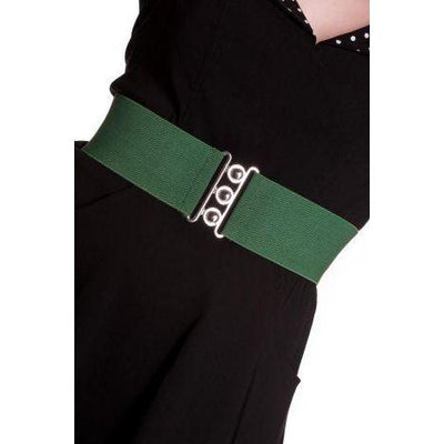 Hell Bunny Retro Belt-Green-Vendemia
