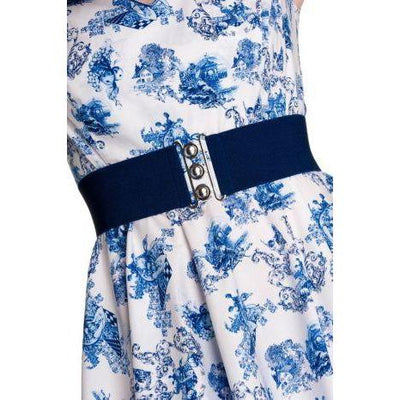 Hell Bunny Retro Belt-Navy-Vendemia