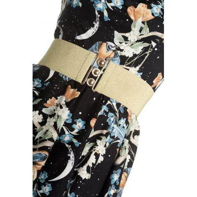 Hell Bunny Retro Belt-Gold-Vendemia