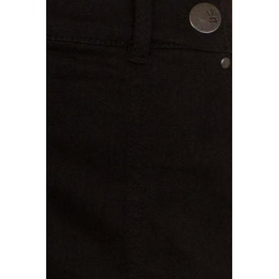 Hell Bunny Weston Denim Trousers Jeans-Black-Vendemia
