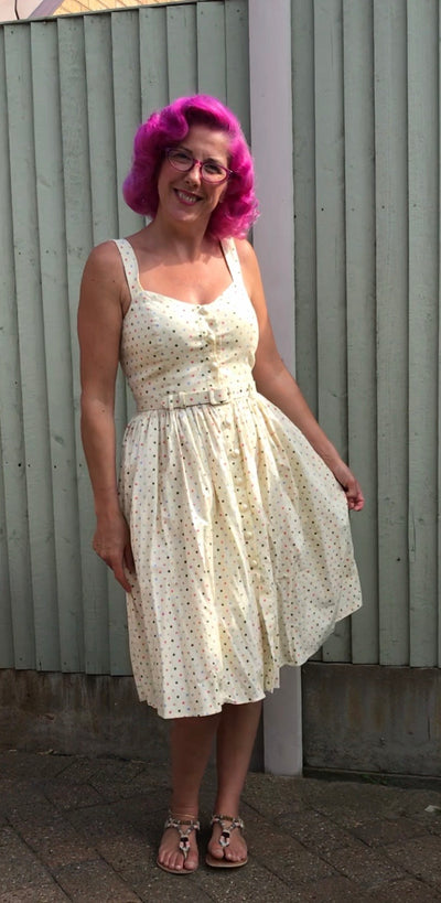 Collectif Vintage Jemima Polka Dot Swing Dress