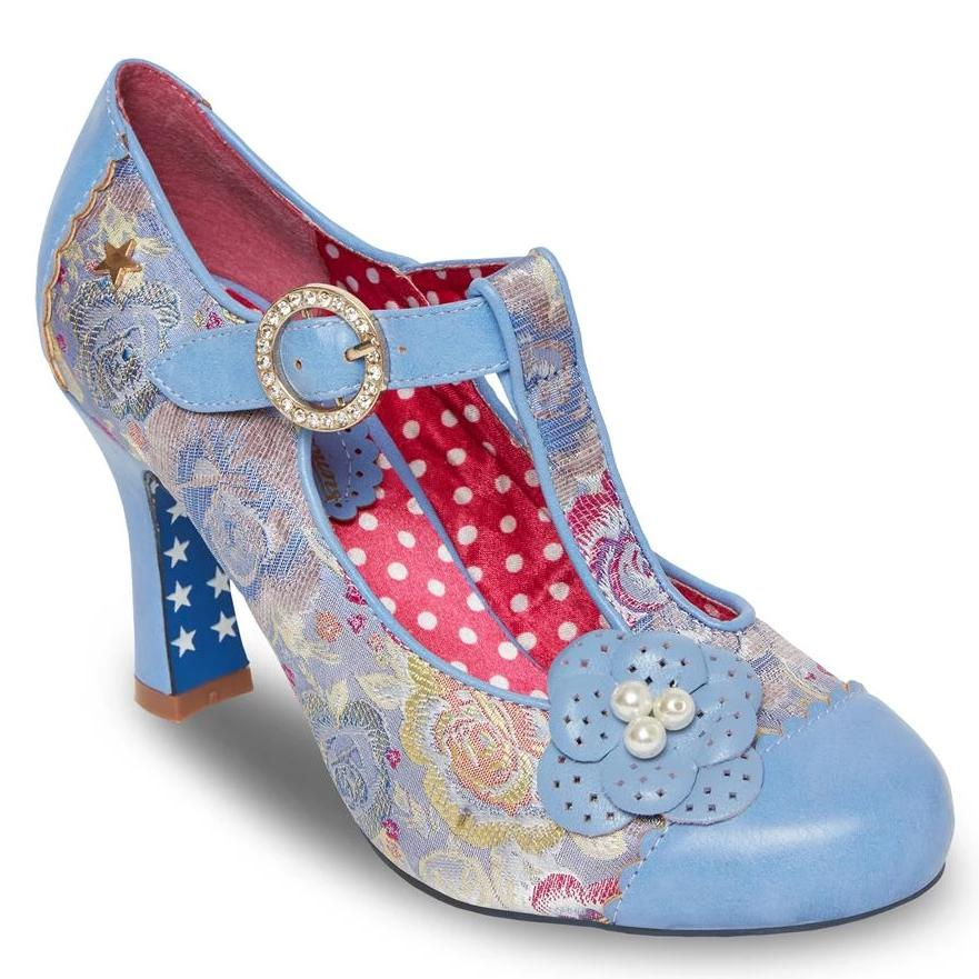 Joe Browns Couture Meadow Shoe-Blue-Vendemia