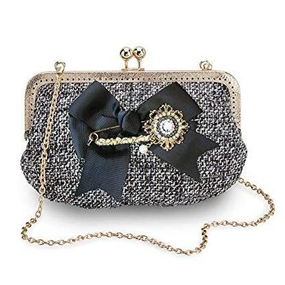 Joe Browns Couture Regal Bag-Black-Vendemia
