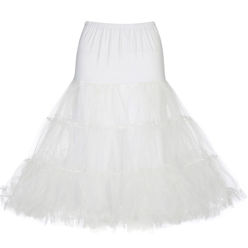 "Lindy Bop Tulle 1950s Petticoat 30"" Long-White-Vendemia"