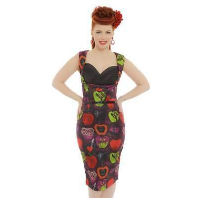 Lindy Bop Vanessa Bad Apple Wiggle Dress-Vendemia