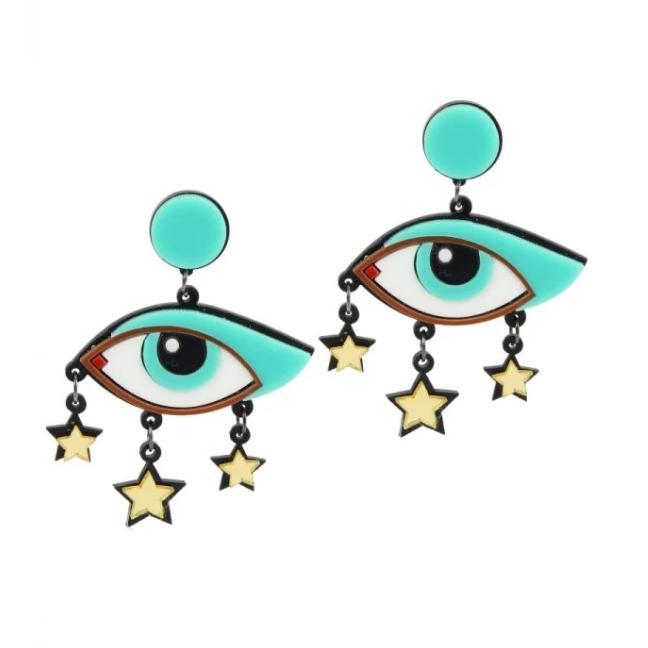 Love Ur Look All Eyes Earrings-Multi Coloured-Vendemia