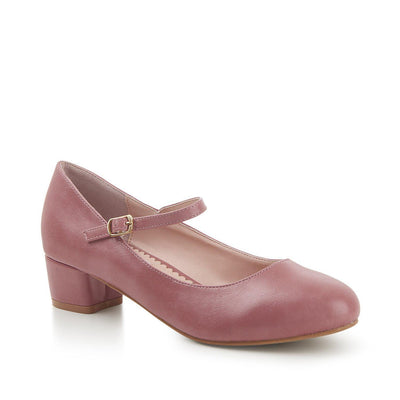 Lulu Hun Maryjane Block Heel Shoes Pink-Pink-Vendemia