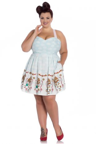Hell Bunny Candy Gingerbread Christmas Dress