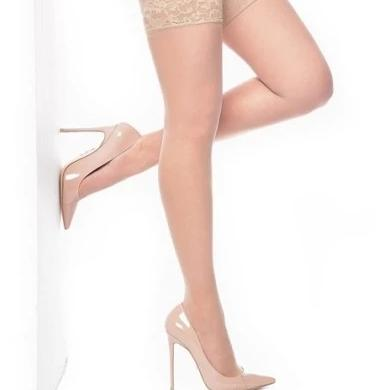 Pamela Mann Lace Top Hold Ups Natural Nude-Vendemia