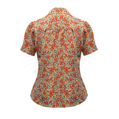 Pretty Retro Pretty 40s Blouse-Vendemia