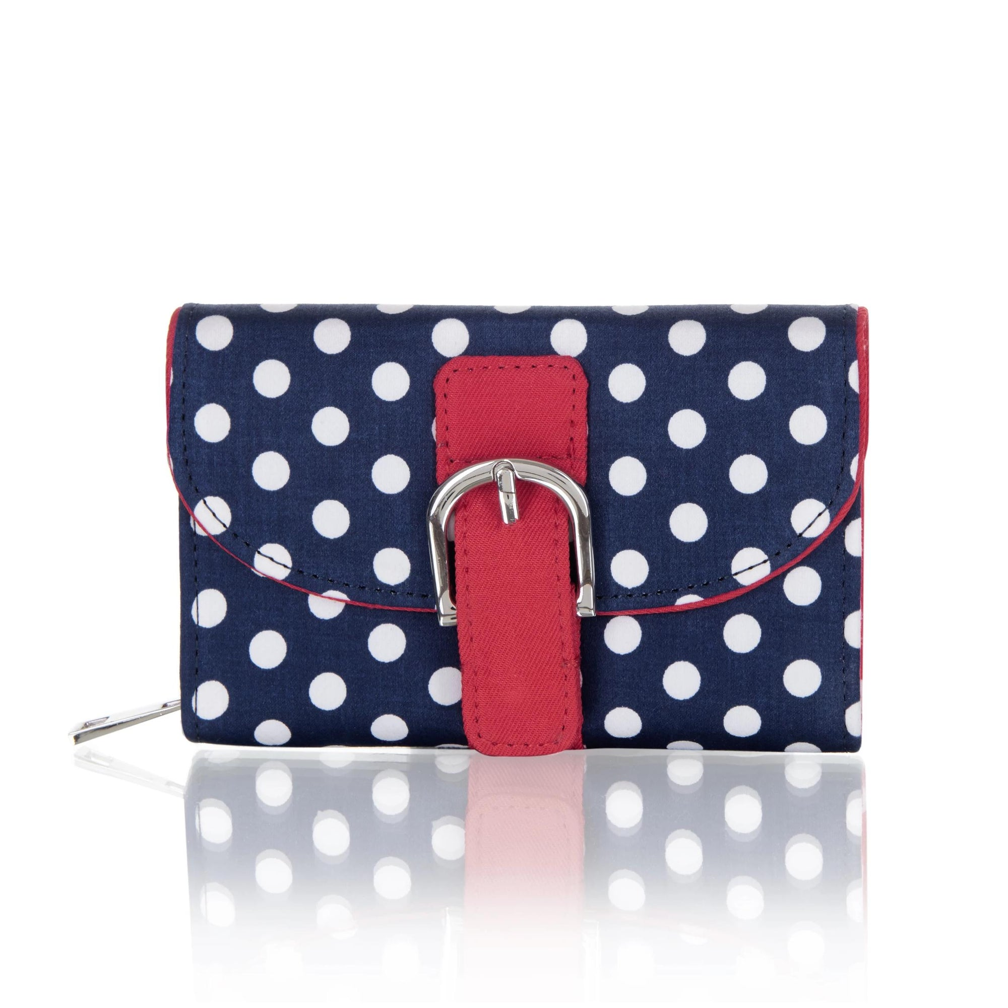 Ruby Shoo Garda Purse Navy Spots-Navy-Vendemia
