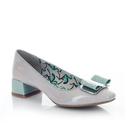Ruby Shoo June Shoes-Stone (Grey)-Vendemia