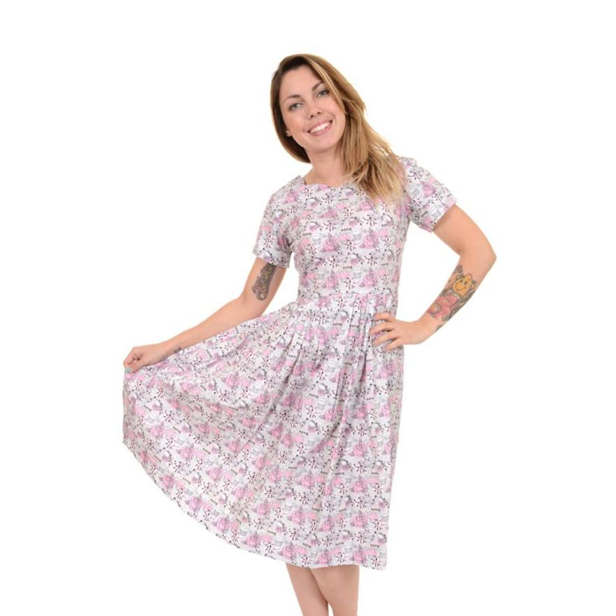 Run & Fly Love Dress-Vendemia