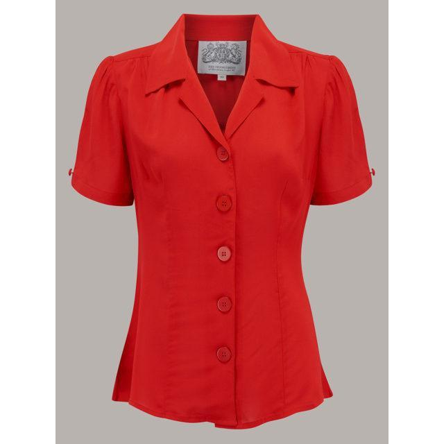 The Seamstress Of Bloomsbury Grace Blouse-Red-Vendemia