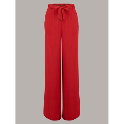 The Seamstress Of Bloomsbury Winnie Trousers-Red-Vendemia