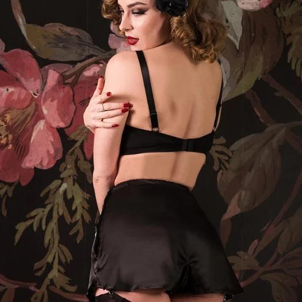 What Katie Did French Knickers CC09 L2019-Black-Vendemia