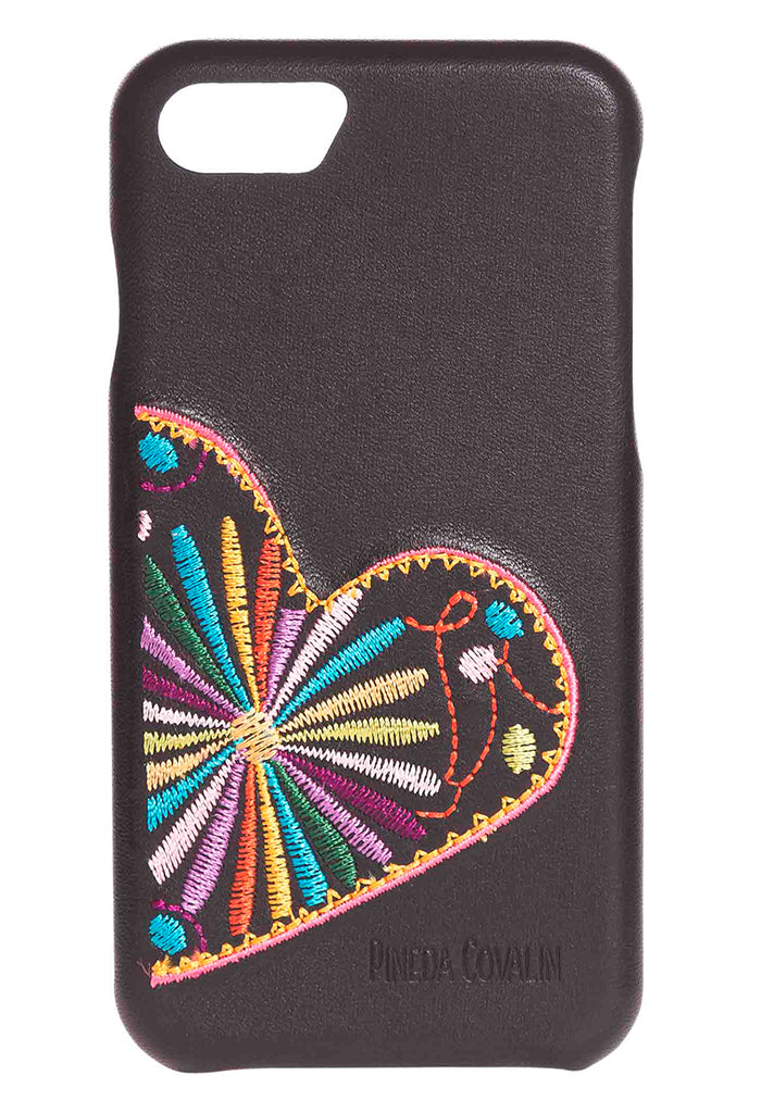 Funda Bordada iPhone SE Corazones Entrelazados