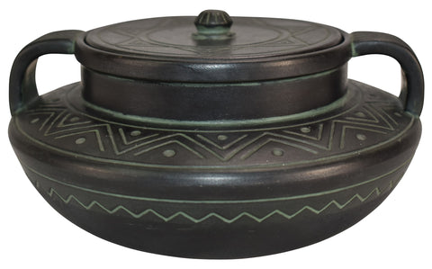 Norse Pottery Covered Jar