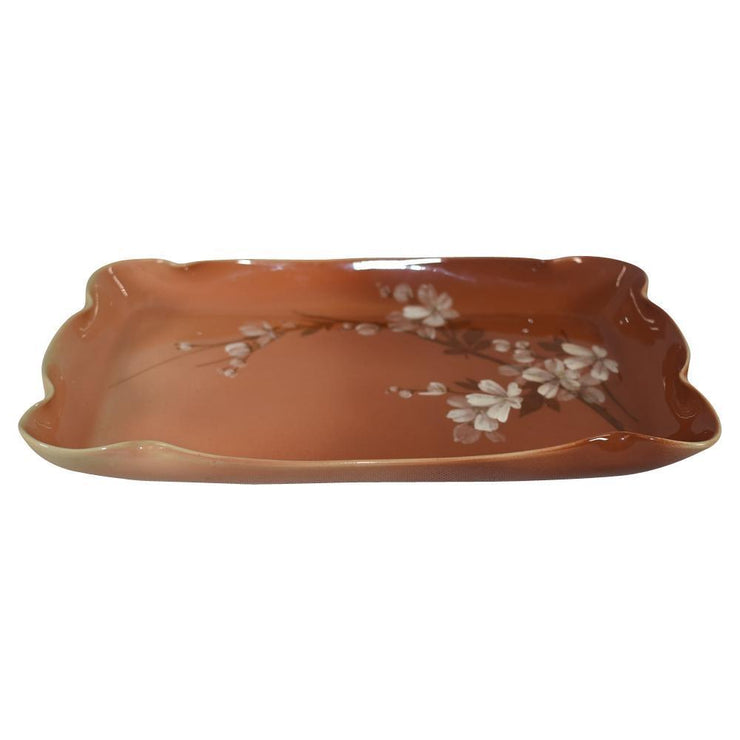 Rookwood Pottery Cameo Cherry Blossom Dresser Tray 591C (Toohey) - Just Art Pottery