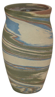 Badlands 1930s Dickota Pottery Colorful Swirl Vase (Howard Lewis) - Just Art Pottery