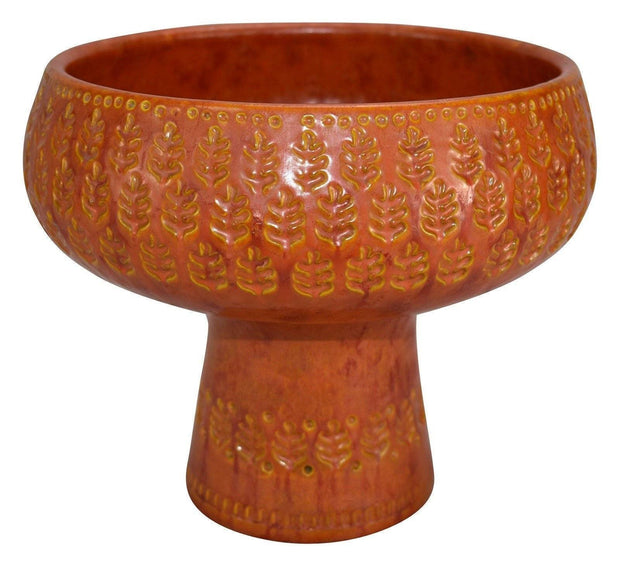 Bitossi Italian Raymor Pottery Orange and Yellow Chalice Shaped Ceramic Vase from Just Art Pottery