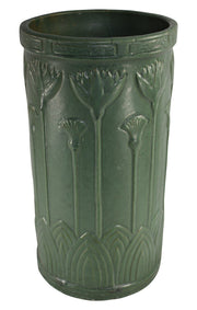 Brush McCoy Pottery Athenian Matte Green Umbrella Stand 75 - Just Art Pottery