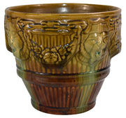 Brush McCoy Pottery Lion Head High Glaze Blended Jardiniere 249 - Just Art Pottery
