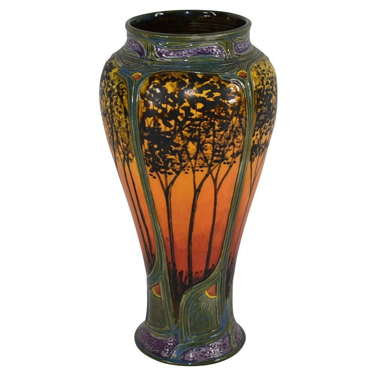 Calmwater Designs Stephanie Young Pottery 2016 Sunset Forest Porcelain Vase from Just Art Pottery