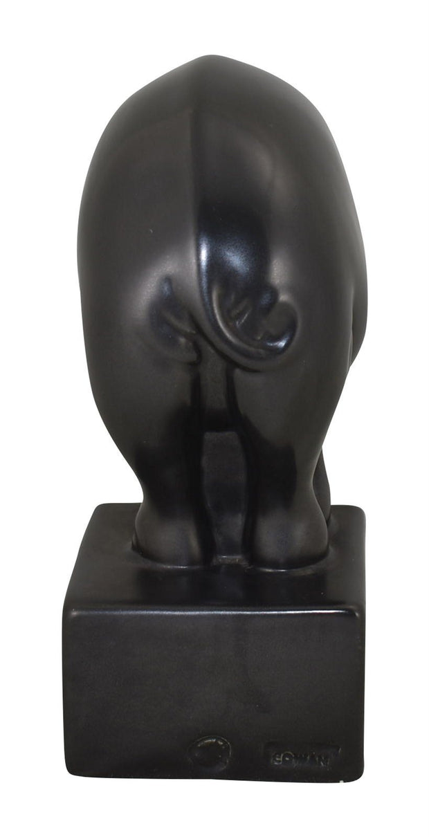 Cowan Pottery Large Black Elephant Bookend (Postgate) - Just Art Pottery