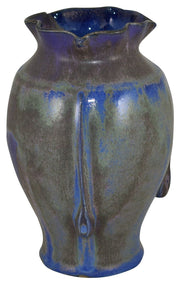 Door Pottery Blue And Brown Flowing Matte Flambe Deco Vase - Just Art Pottery
