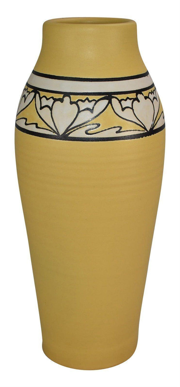 Ephraim Faience Pottery 1998 SEG Style Desert Flower Vase 842 - Just Art Pottery