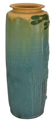 Ephraim Faience Pottery 2001 Experimental Koi And Lily Pad Vase - Just Art Pottery