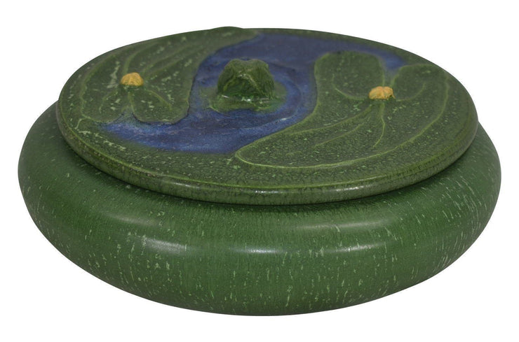 Ephraim Faience Pottery 2004 Frog Pond Covered Box 378 from Just Art Pottery
