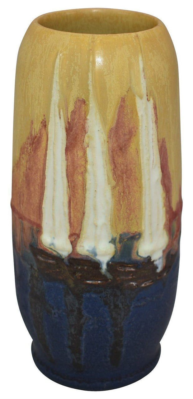 Ephraim Faience Pottery 2006 Experimental Monet Sailboat Vase - Just Art Pottery