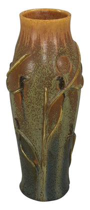 Ephraim Faience Pottery 2011 Experimental Birds On Branches Vase - Just Art Pottery