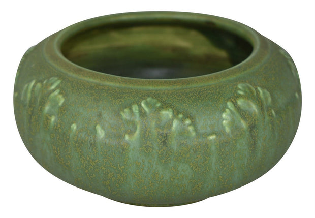 Hampshire Pottery Mottle Green Trees Bowl Shape 26 - Just Art Pottery