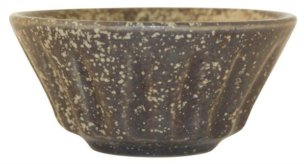 Hjorth Bornholm Denmark Pottery Mottled Brown Cabinet Bowl - Just Art Pottery