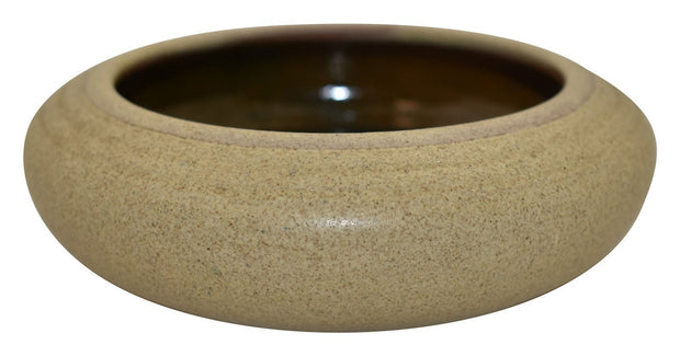 Marblehead Pottery Hand Thrown Sandy Glaze Low Bowl - Just Art Pottery