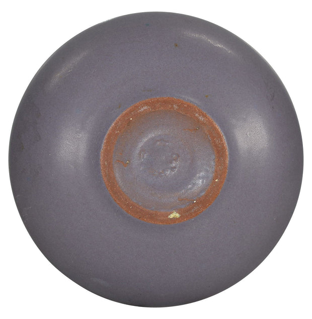 Marblehead Pottery Matte Lavender Low Bowl - Just Art Pottery