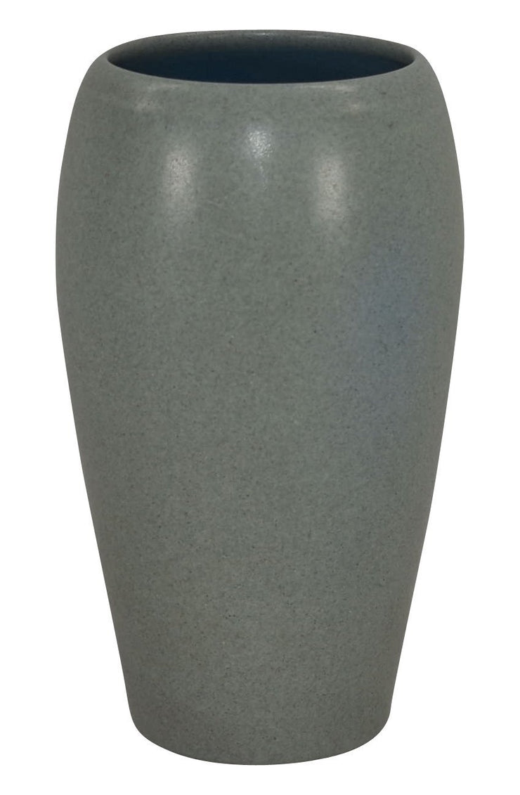 Marblehead Pottery Mottled Matte Gray Tall Vase from Just Art Pottery