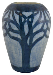Newcomb College Pottery 1902 High Glaze Blue Tree Vase (Urquhart) - Just Art Pottery
