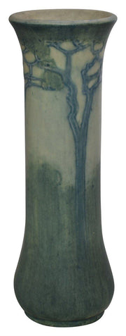 Newcomb College Pottery 1912 Scenic Tall Slender Ceramic Vase (Bailey) - Just Art Pottery