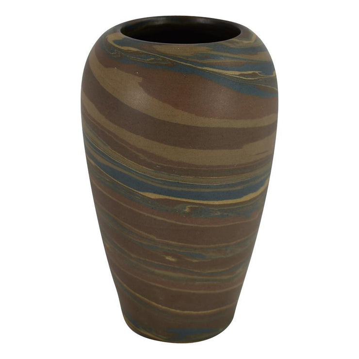 Niloak Pottery Mission Dark Swirl Arts and Crafts Vase from Just Art Pottery